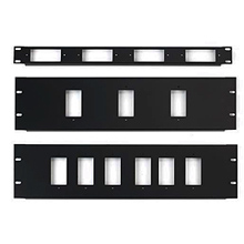 Faceplates, panels and frames for audio componet racks are found here.