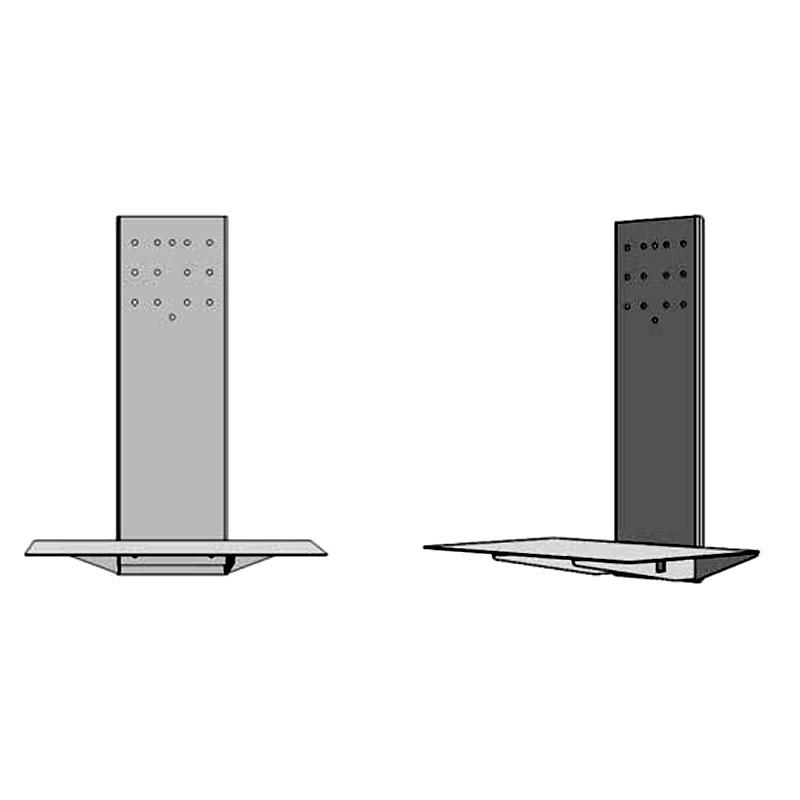 black or white furniture. Audio Visual Furniture SYZ2 Extended Laptop Shelf (Black Or White) Black White