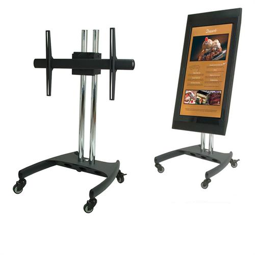 View a larger image of the PSD-VPS Low-Profile Mobile Cart with 360 Degree Screen Rotation.