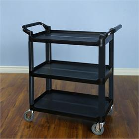 View a larger image of the VTI 58000 Multi Function Utility Cart (Black Pole Black Shelf).