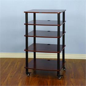 View a larger image of the VTI AR405BC AR Series 5 Shelf Audio Rack (Black Pole Cherry Shelf).