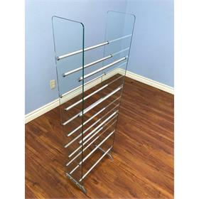 View a larger image of the VTI CDRACK-SM-SAMPLE Small Glass CD DVD Rack (Floor Model).