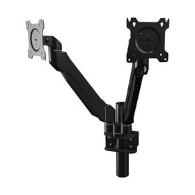 View a larger image of the Crimson DSA21P Single Link Dual Screen Mount with Pole Clamp.
