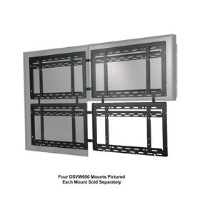 View a larger image of the Peerless DS-VW650 Ultra Thin Flat Video Wall Mount for Mid to Large Screens.