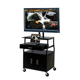 View a larger image of the VTI FDCAB4418E Mobile Cabinet with 52 inch TV Mount and Drawer.