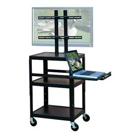View a larger image of the VTI FPC4226E Mobile Cart with 32 inch TV Mount and Pull Out Shelf.