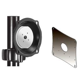 View a larger image of the Chief JPP210B Black Pivot Pole Mount with 200x200 VESA Adapter.