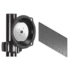 View a larger image of the Chief JPPVB Black Pivot Pole Mount with 400x200 VESA Adapter.