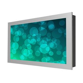 View a larger image of the Peerless KIL740-S Silver Indoor Landscape In-Wall Kiosk Enclosure for 40