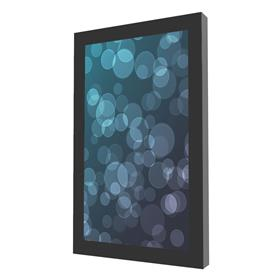View a larger image of the Peerless KIP642 Black Indoor Portrait Wall Kiosk Enclosure for 42