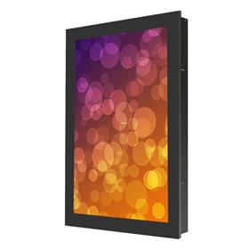 View a larger image of the Peerless KIP742 Black Indoor Portrait In-Wall Kiosk Enclosure for 42