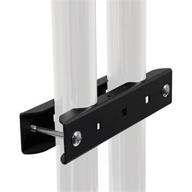 View a larger image of the Peerless Modular Series Dual Pole Stacking Clamp (Black) MOD-ASC2.