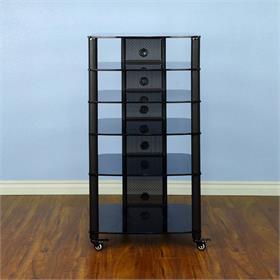 Vti Ngr406bb Ngr Series 6 Shelf Av Rack Black Pole Black