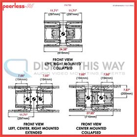 Peerless Pa750 Articulating Wall Mount For Large Screens