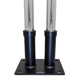 View a larger image of the Premier Mounts Dual Pole Anchor Base PSD-DPAB.