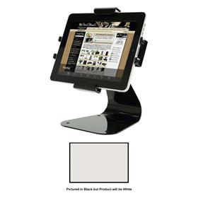 View a larger image of the Peerless PTM400S-W White Theft Resistant Universal Desktop Tablet Mount.