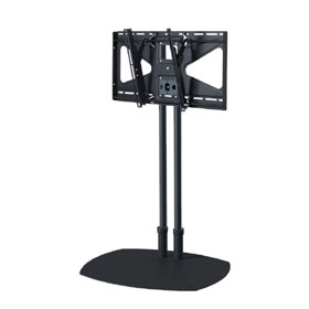 View a larger image of the TS60B-MS2 60 inch Black Floor Stand with Tilt Mount for Large Screens.