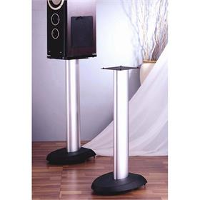 View a larger image of the VTI VSP24SB Cast Iron Speaker Stands (24 inch Silver and Black).