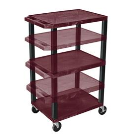 View a larger image of the Luxor WT1642BY-B Burgundy 3 Shelf Multi Height Cart.