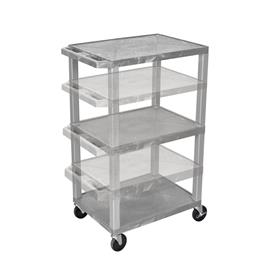View a larger image of the Luxor WT1642GY-N Gray 3 Shelf Multi Height Cart.