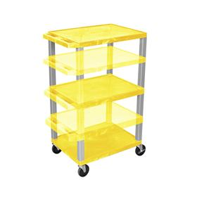 View a larger image of the Luxor WT1642Y-N Yellow 3 Shelf Multi Height Cart.