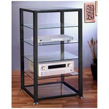 VTI audio racks and stands offer multiple component shelves.
