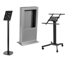 Flat screen monitor kiosk stands