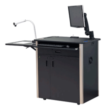 View presentation stands and multimedia carts here.