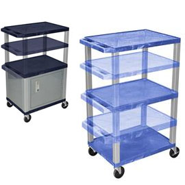 Utility Carts with storage cabinets