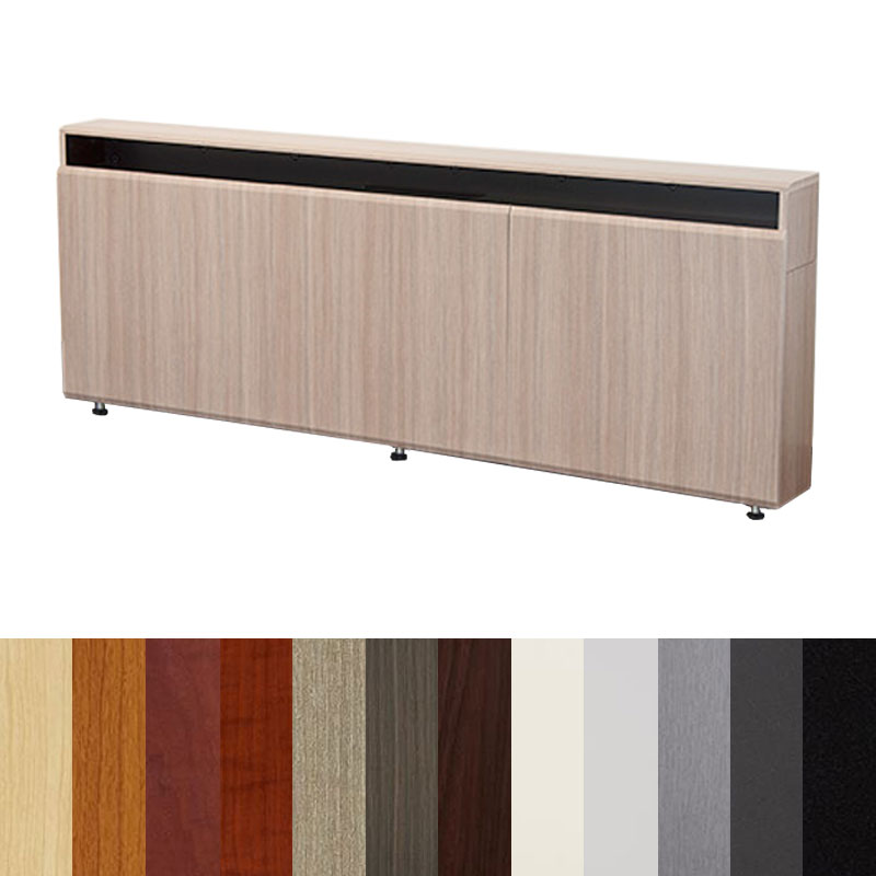 Bon View A Larger Image Of The AVFI CR3 WM Triple Rack Wall Mounted Credenza (