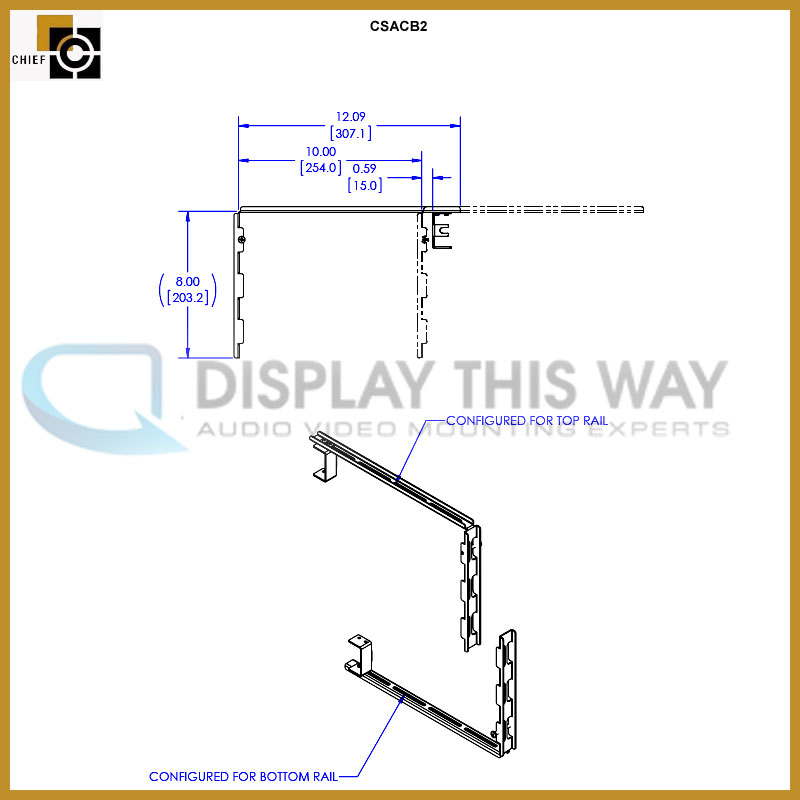 Chief Csacb2 Connexsys Wall Cover Bracket Pack