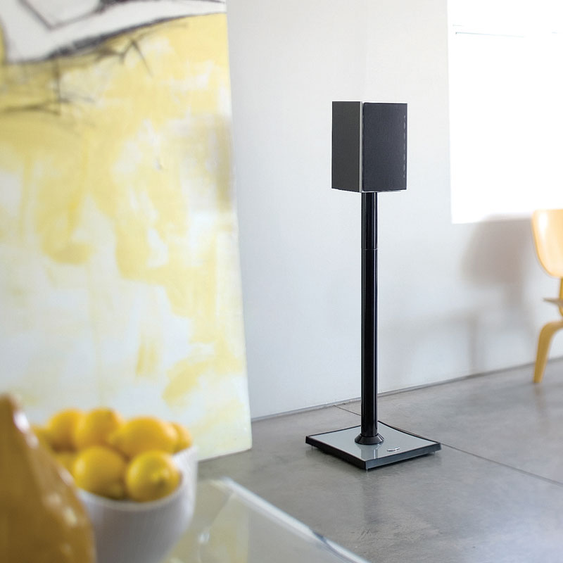 View A Larger Image Of The OmniMount Gemini2 Large Bookshelf Speaker Stands 24 Or 31