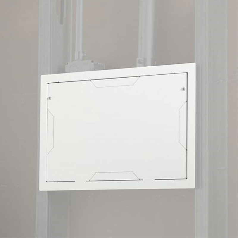 View A Larger Image Of The Chief PAC525FCW In Wall Storage Box With White  Flange