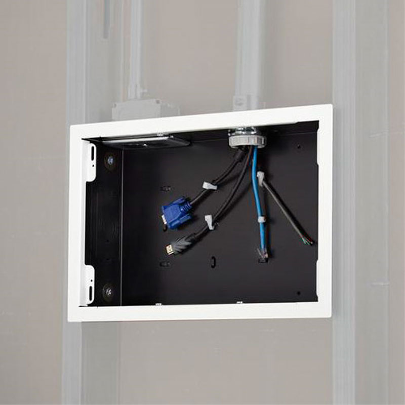 Chief Pac525fw In Wall Storage Box With White Flange