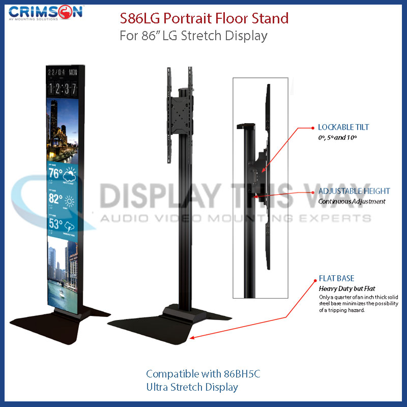 Crimson S86lg Portrait Stand For Lg 86 Inch Stretch Display