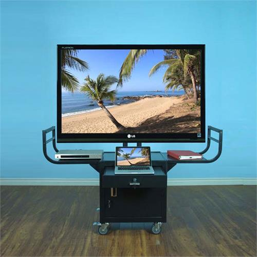 View a larger image of the VTI 10235 AV Cart with 65 inch TV Mount and Locking Cabinet.
