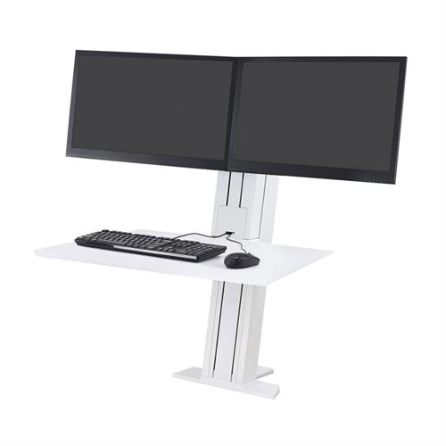 View a large image of the Ergotron Sit-Stand Desk Mount (WorkFit-SR, Dual, Rear, WT) 33-407-062 here.