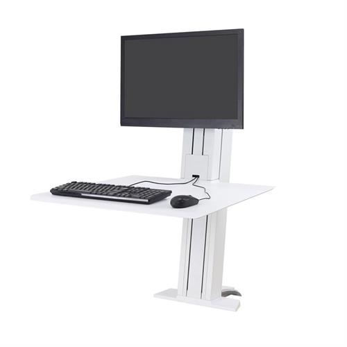View a large image of the Ergotron Sit-Stand Desk Mount (WorkFit-SR, Single, Rear, WT) 33-415-062 here.