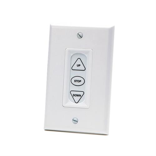 View a large image of the Da-Lite Low Voltage Wall Switch (LVC System, White) 40975 here.