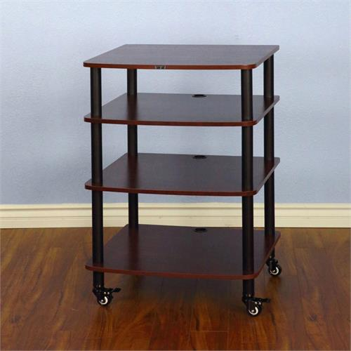 View a larger image of the VTI AR404BC AR Series 4 Shelf Audio Rack (Black Pole Cherry Shelf).