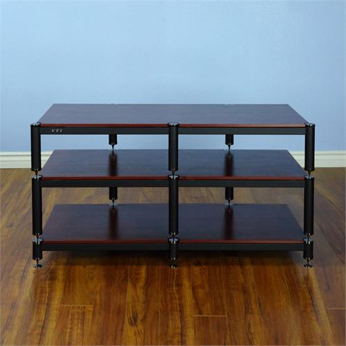 View a larger image of the VTI BL503BC BL Series TV Stand (Black Cap Black Pole Cherry Shelf).