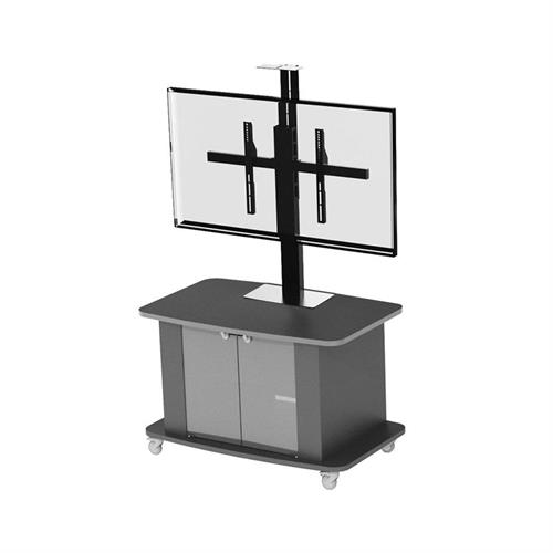 View a larger image of the Audio Visual Furniture Single Display Cart for Large Screens C2736-S here.