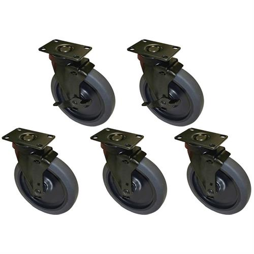 View a larger image of Audio Visual Furniture CASTERX5 Six Inch Casters (Set of 5).