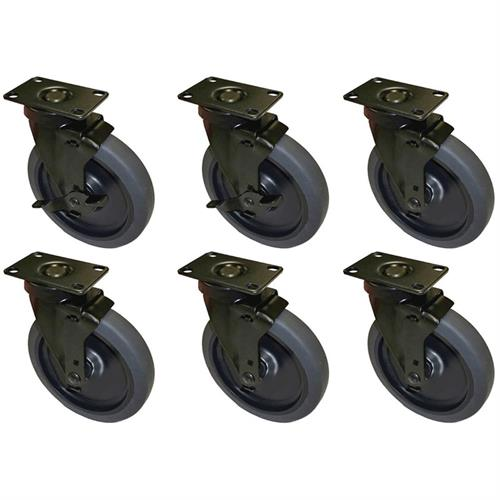 View a larger image of Audio Visual Furniture CASTERX6 Six Inch Casters (Set of 6).