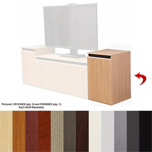 View a larger image of the AVFI Single 16U Rack Credenza (Various Colors) CR1016EX here.