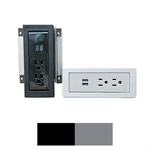 View a larger image of the AVFI CUB4 Power Panel (Black or Silver).