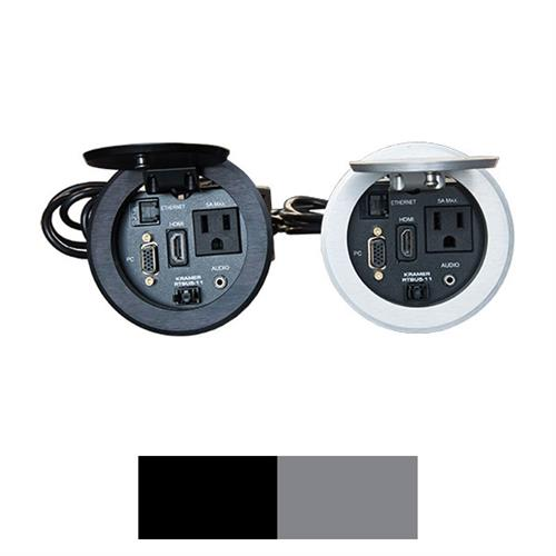View a larger image of the Audio Visual Furniture CUB5 Round Cable Well (Black or Silver).