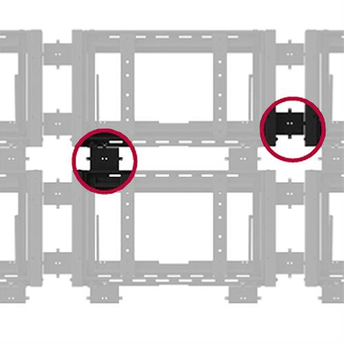 View a larger image of the Peerless Custom Wall Plate Spacer Kit for DSVW Video Wall Systems (Black) DSVWS.