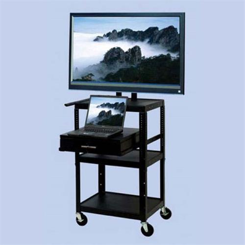View a larger image of the VTI FDC4226E Mobile Cart with 32 inch TV Mount and Drawer.