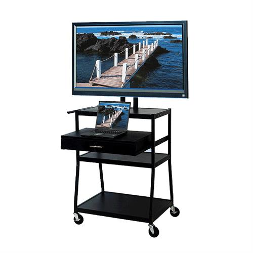 View a larger image of the VTI FDC4218E Mobile Cart with 42 inch TV Mount and Drawer.